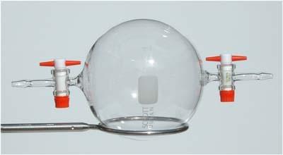 esperimenti di chimica FIALA PRELIEVO GAS A0018